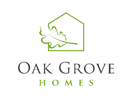 Oak Grove Green On White Vertical